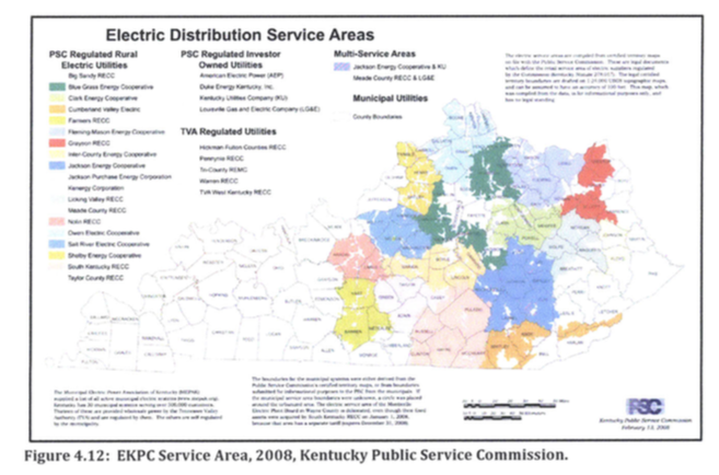 EKPC territory in Kentucky from dissertation chapter