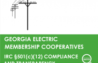 report cover: Georgia EMCs: 501c12 Compliance & Transparency
