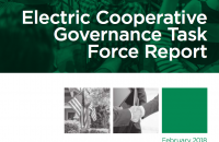 electric cooperative governance report cover image of people at a meeting