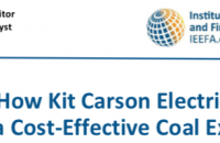 "IEEFA Report title: ""Case study: How Kit Carson Electric Engineered a Cost Effective Coal Exit"""